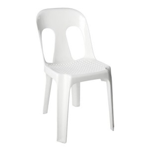 White Moulded Plastic Chair