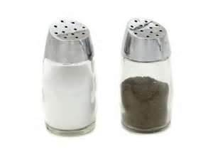 Salt and Peper Shackers- Glass 1